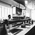 black and white image of bar in preston