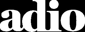 Logo for adio in white